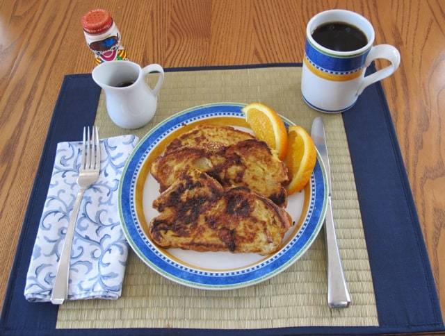 French toast, coffee, breakfast, cook