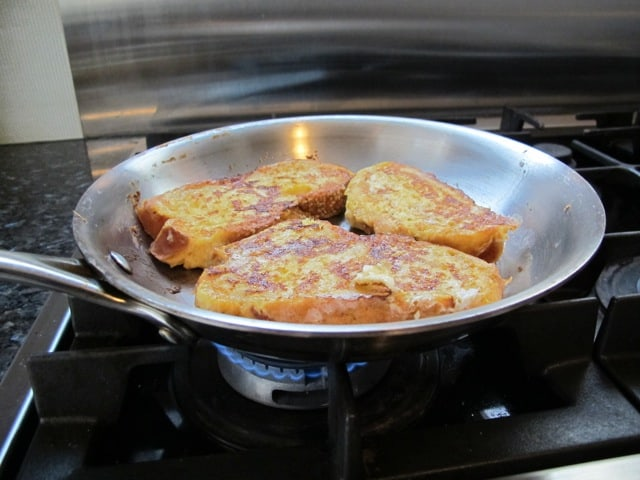 French toast, frying, pan, cooking, home-made