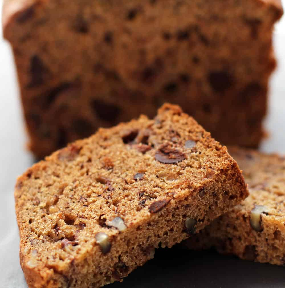 Banana bread, using a recipe that also works for muffins.