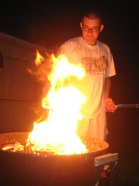 bar-b-que, cooking disaster, fire