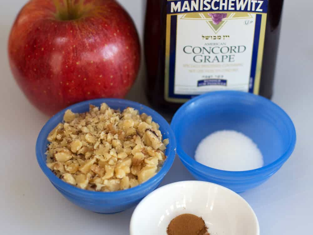 Ingredients for Ashkenazic simple charoset. | Mother Would Know