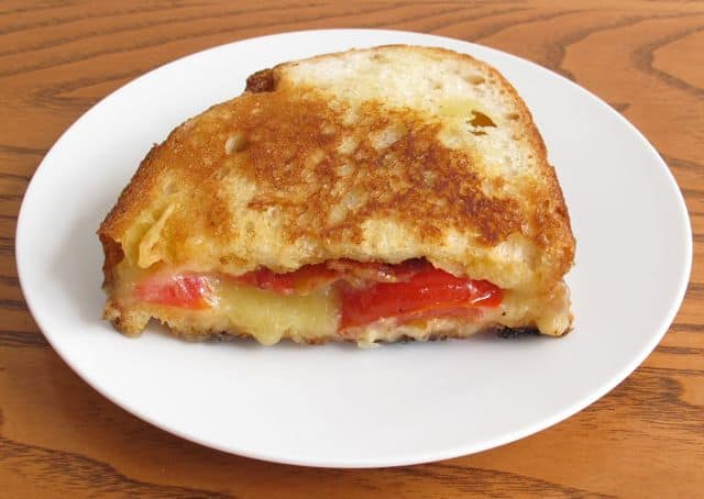 grilled cheese, sandwich