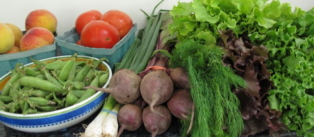 vegetables from farmers market