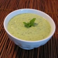 Chilled zucchini and mint soup – a summer delight