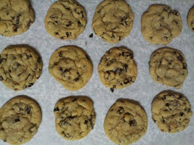 chocolate chip cookies, baking cookies