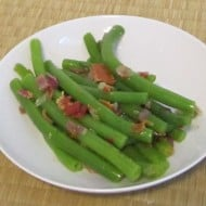 Green beans – simple to make & easy to dress for dinner
