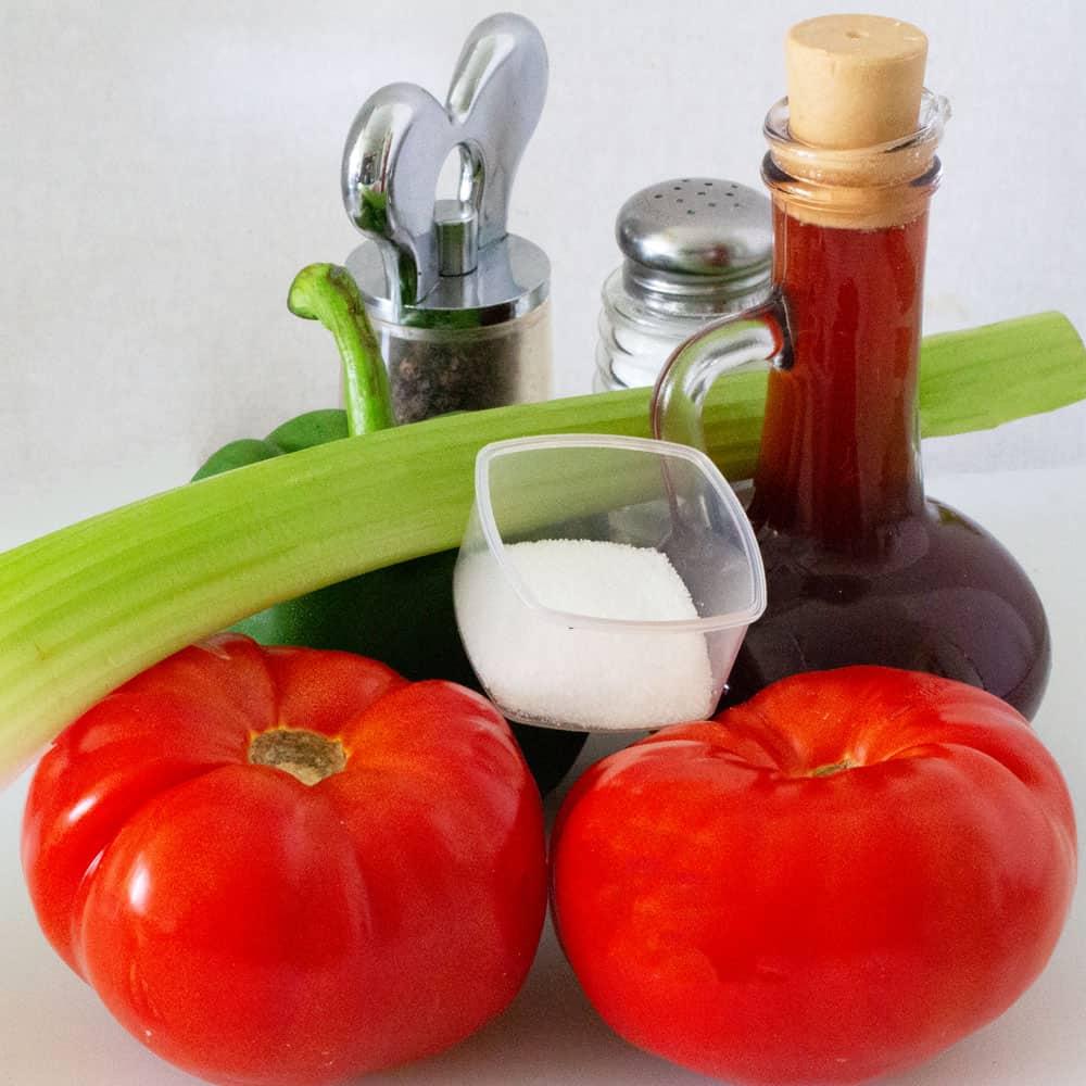 ingredients for Grandpa's Greek salad