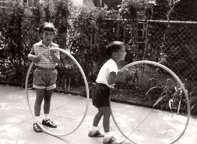 kids playing with hula hoops, David Kumin, 1950s,