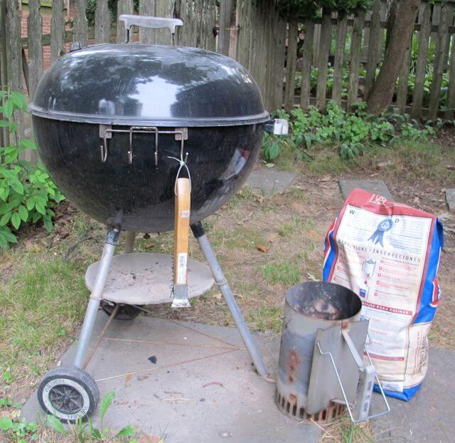 charcoal grill for cooking chicken shish kebab