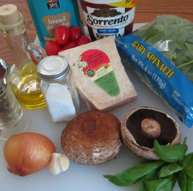 ingredients to make stuffed mushrooms