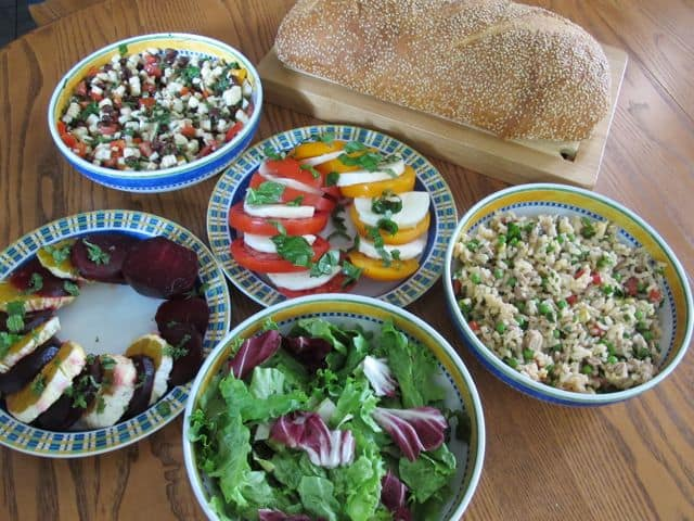 how to use fresh herbs, composed salads