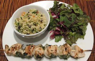 shish kebab dinner, meal preparation