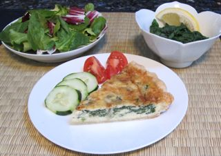 spinach quiche, spinach in salad, spinach cooked