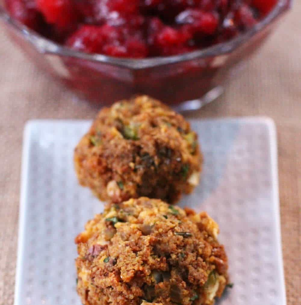 Cornbread stuffing balls are a great alternative for Thanksgiving and other holiday dinners.