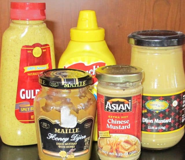 condiments, mustards, types of mustard