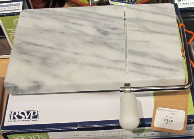 holiday gift of marble cheese board, present
