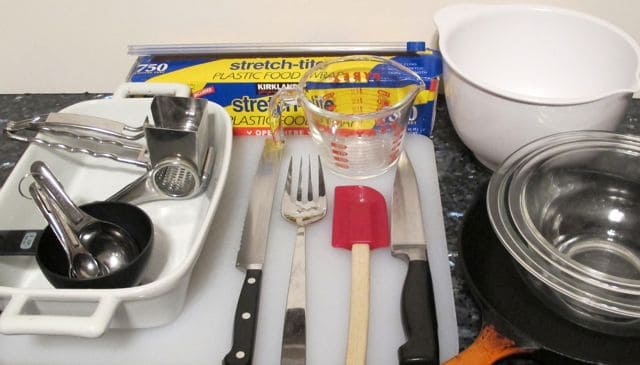equipment for ham and cheese strata