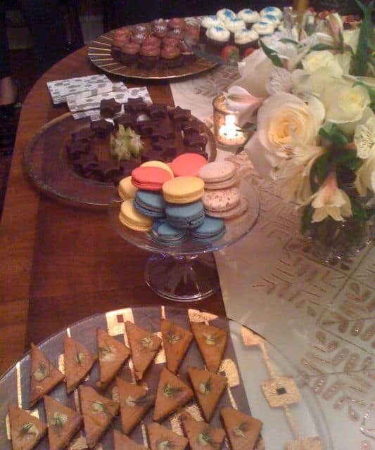 tea cookies, sweets and sandwiches