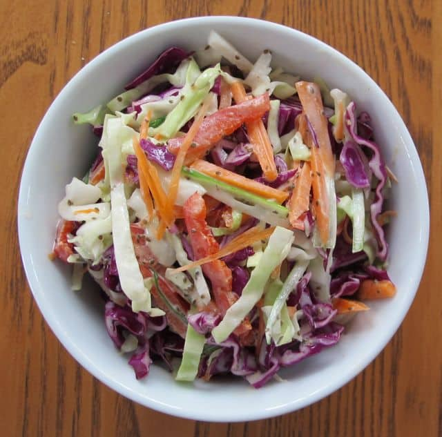 easy cole slaw with mayonnaise