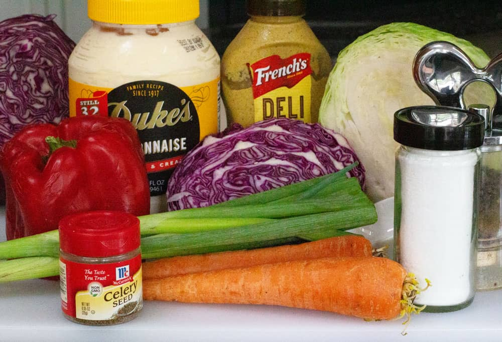 ingredients for easy cole slaw