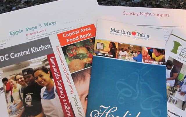 pamphlets from FArm to Table event at Smithsonian