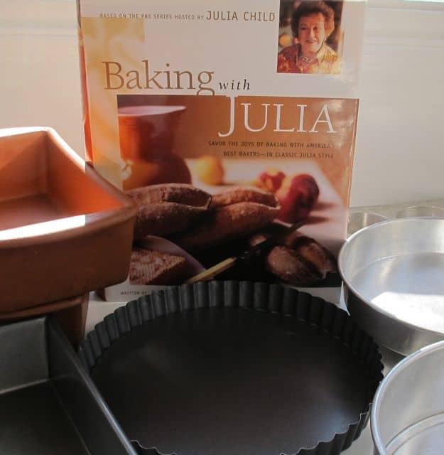 Baking with Julia book, Julia Childs, baking pans