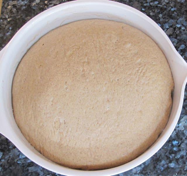 bread rose in bowl