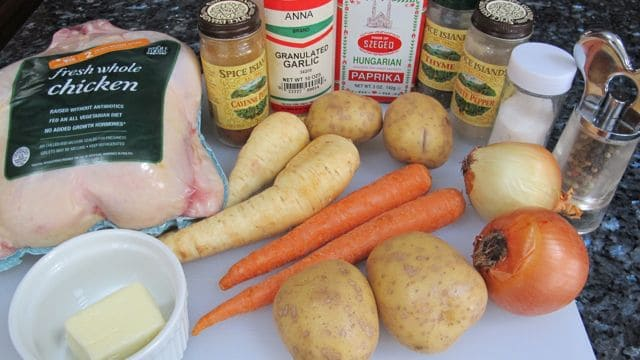 ingredients for slow cooker or crock pot chicken
