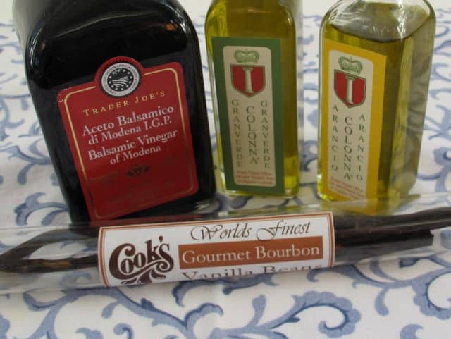 special oils or vinegar or vanilla beans as valentine's day gift