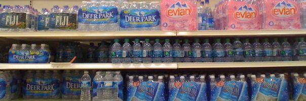 bottled water sold at Target