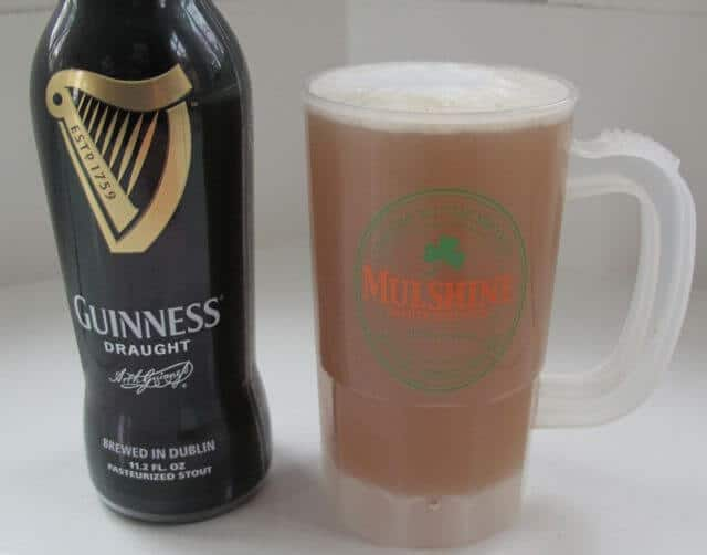 St. Patrick's Day party with Guinness beer and mug