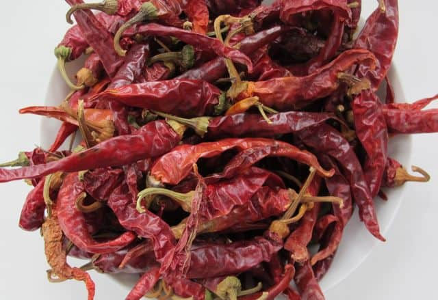 dried chili peppers for cooking