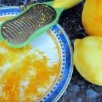 Orange and lemon zest for citrus loaf cake