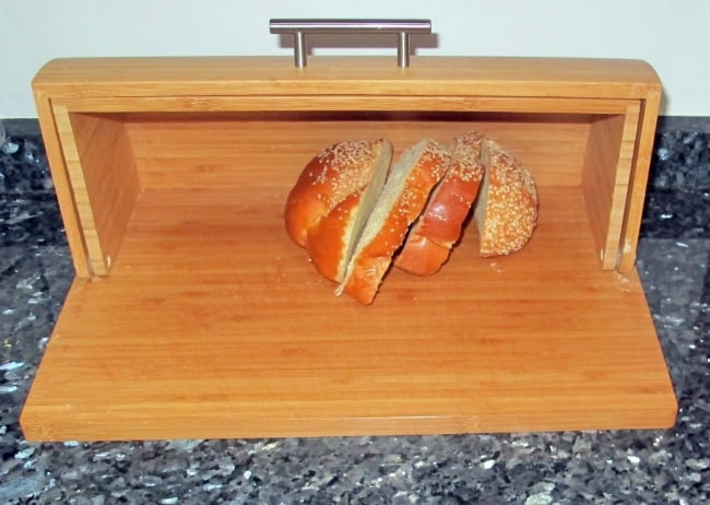 challah in a bread box