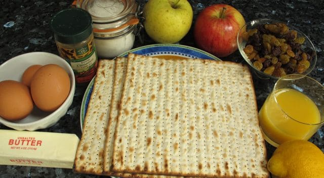 Apple Matzoh Pudding Recipe — Dishmaps