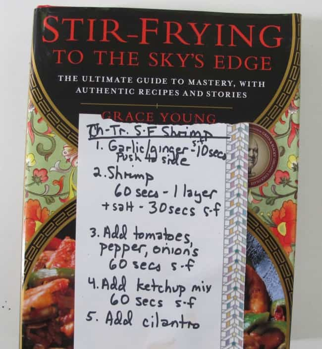how i read recipes when i stir fry - cheat sheet