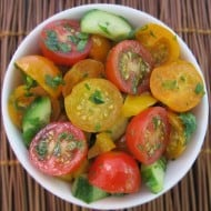 Cherry Tomato & Cucumber Salad