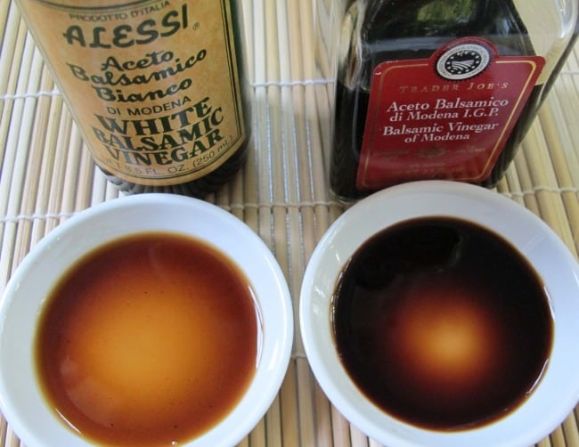 white and red balsamic vinegar compared