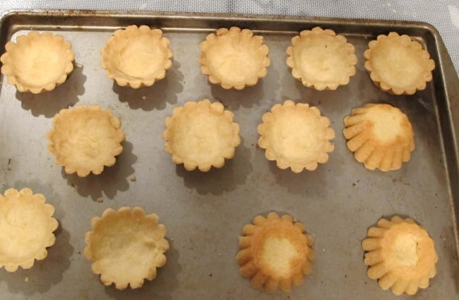 pastry tartlets baked