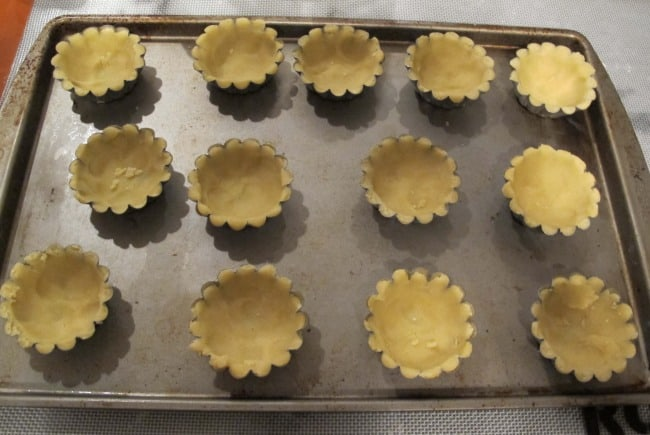 baking tartlets in small shells