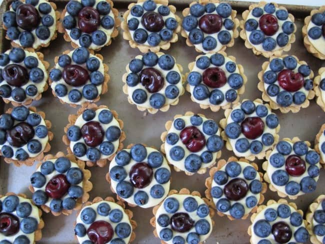 blueberry & cherry tartlet