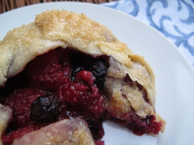 raspberry and blueberry galette pastry