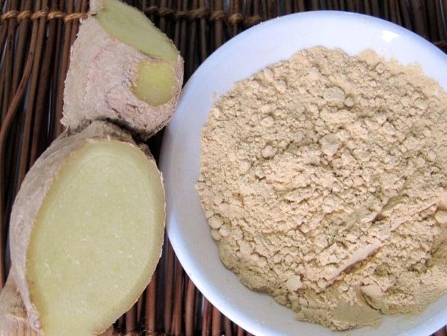 powdered ginger, spices, fresh ginger