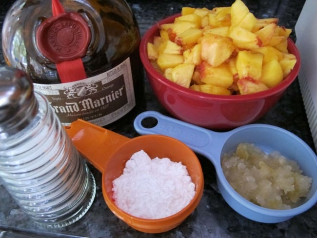ingredients for peach sauce