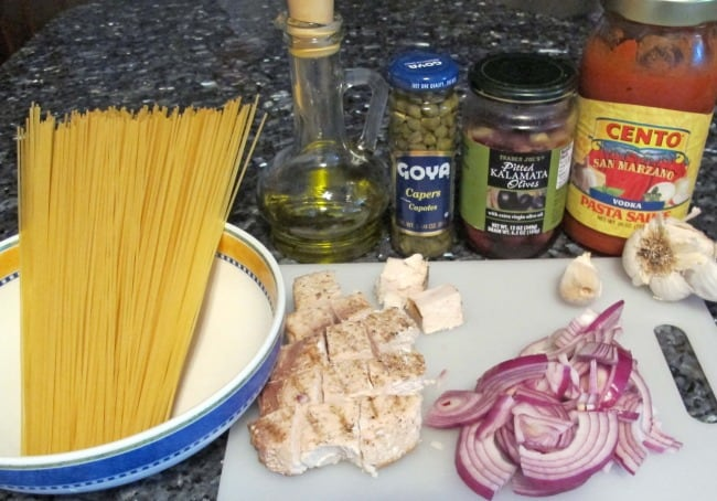 swordfish pasta ingredients