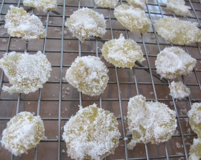 candied or crystallized ginger