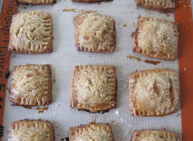 Brown butter plum hand tarts