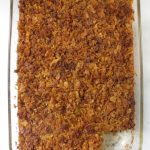 Baked Sweet Noodle Kugel with Cornflakes