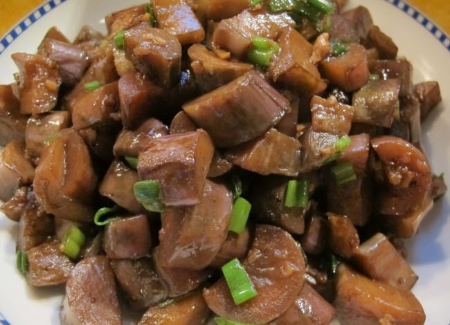 dish of garlic stir-fried eggplant recipe