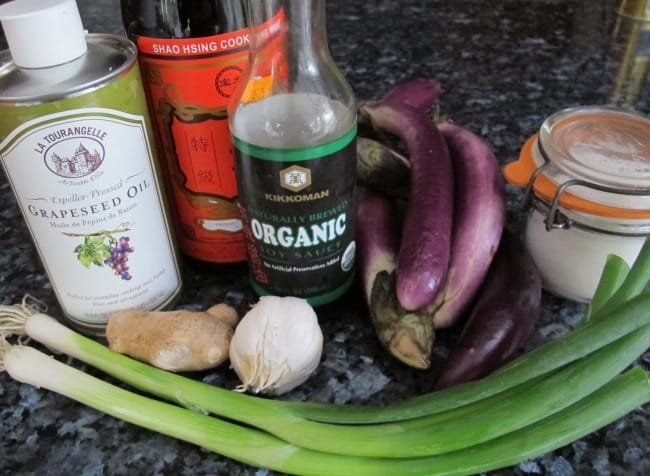 garlic eggplant ingredients